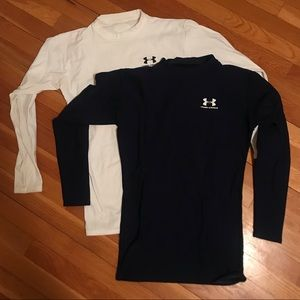 Two Under Armour ColdGear Fitted Crews